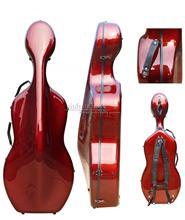 Виолончель случае 4/4 углеродного волокна виолончель Футляр Box красного цвета сильный свет 3,6 кг Виолончель Запчасти