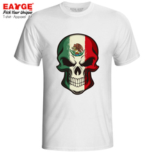 Mysterious Smile From Mexico Skull T Shirt Evil Cartoon Flag Design Style Rock Pop T-shirt Active Print Anime Unisex Top Tee поло print bar mexico