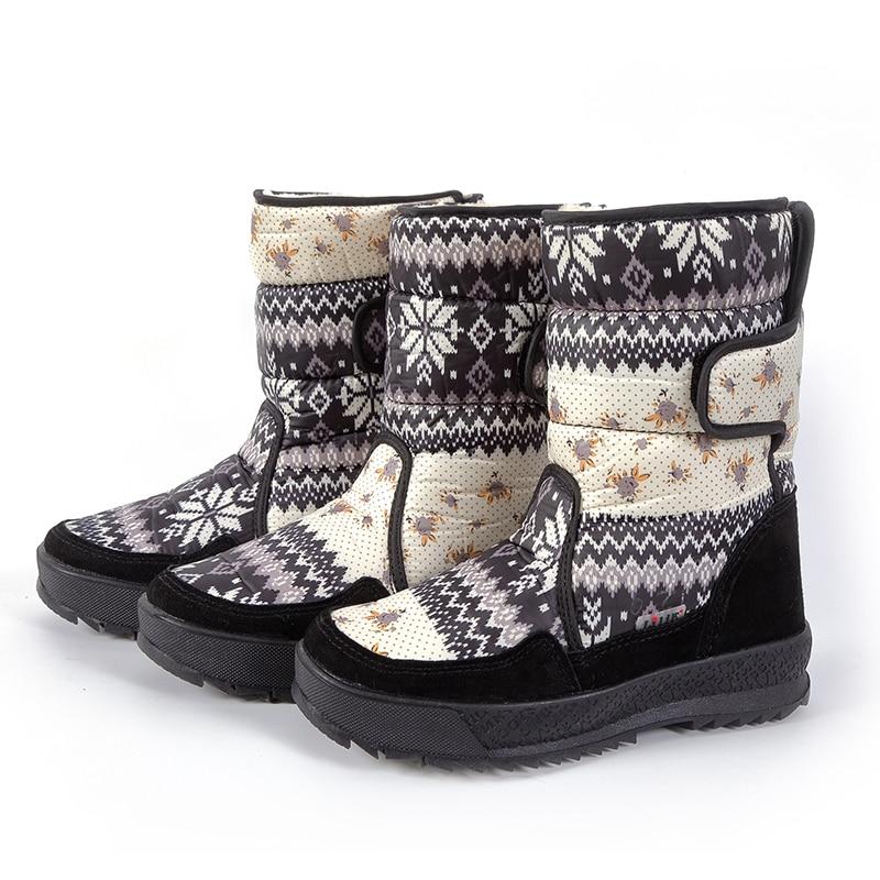 2019 Neue Heiße Winter Damen Wilden Vogue Outdoor Ski Stiefel Russland Warm Schnee Stiefel Wasserdicht Große Größe Baumwolle Schuhe Botas De Nieve