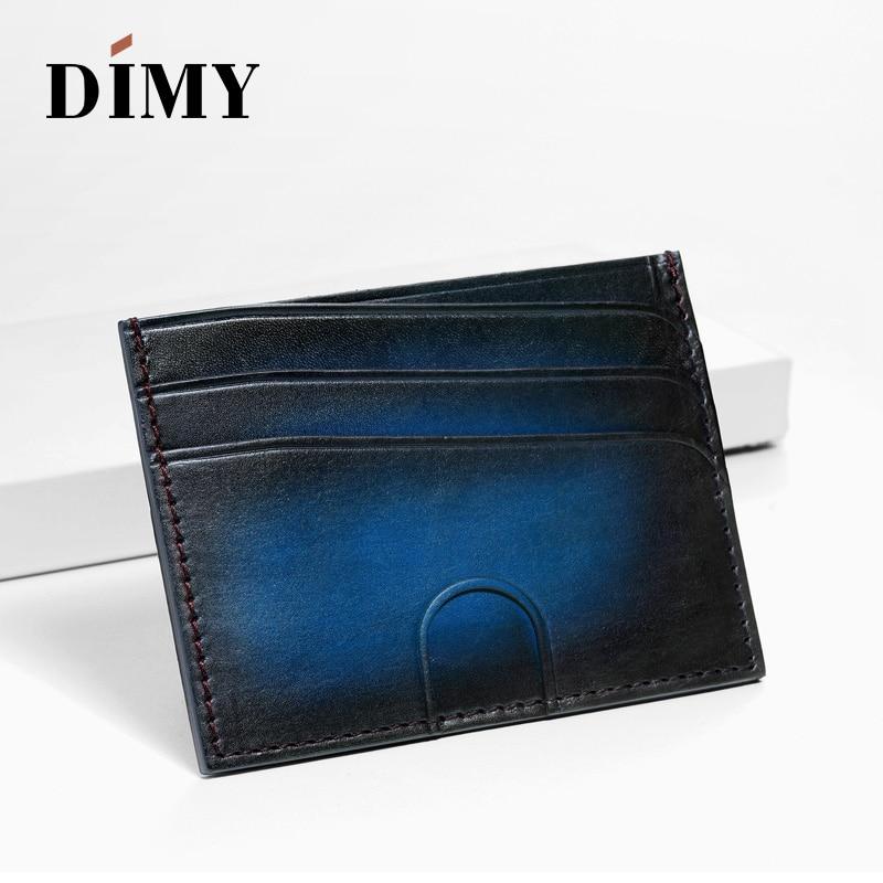 2018 nouveau porte-monnaie fait main pour hommes porte-monnaie en cuir de vachette identification professionnelle porte-carte de crédit livre étui lettre patine couleur DM4181
