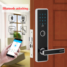 Security Electronic Door Lock, APP WIFI Bluetooth Smart Touch Screen Combination Lock,Digital Code Keypad Deadbolt For Apartment