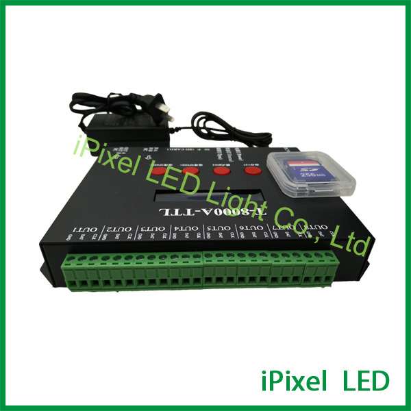 T-8000A AC110-220V 3W support 2G SD card led pixel controller,8000 pixels hot sale dmx512 wireless sd card controller support 2048 pixels