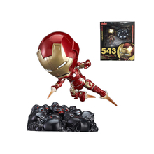 Marvel Shield America Anime Avengers iron Man Nendoroid Age of Ultron Action Figure Toys 10cm Collection Model 0665