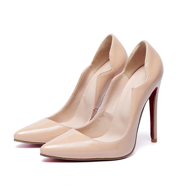 Big Size Sale 34-46 Apricot New Fashion Sexy Pointed Toe Women Pumps Platform Pumps High Heels Ladies Wedding Party Shoes 116 big size sale 45 46 47 new fashion sexy pointed toe women pumps platform pumps high heels ladies wedding party shoes 501