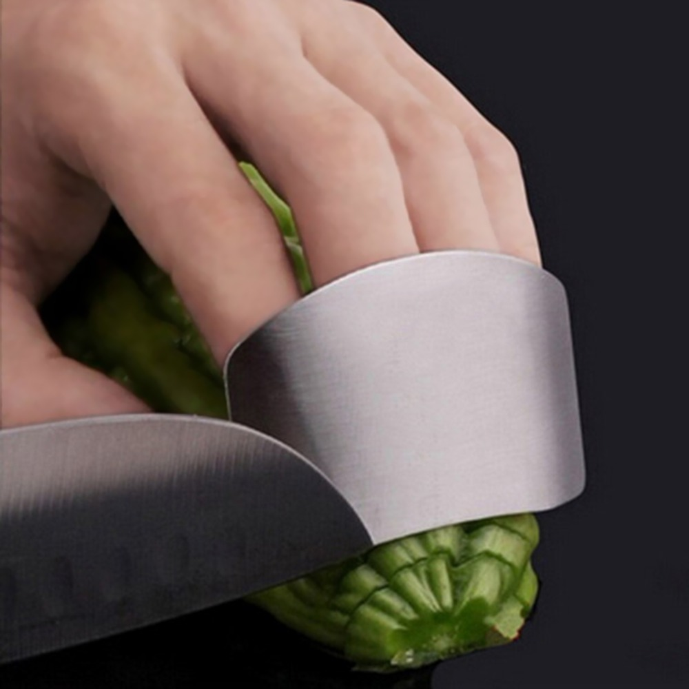 Finger Guard Protect Finger Chop Safe Slice Stainless Steel Kitchen Hand Protector Knife Slice Cutting Finger Protection Tools
