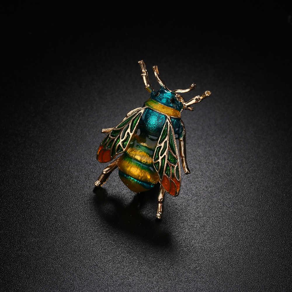 Hot Vintage Ape In Metallo Spille Insetto Spilla Spille Le Donne e Gli Uomini Dei Monili Carino Piccolo Bumblebee Distintivi e Simboli Panno di Modo Decori Accessori
