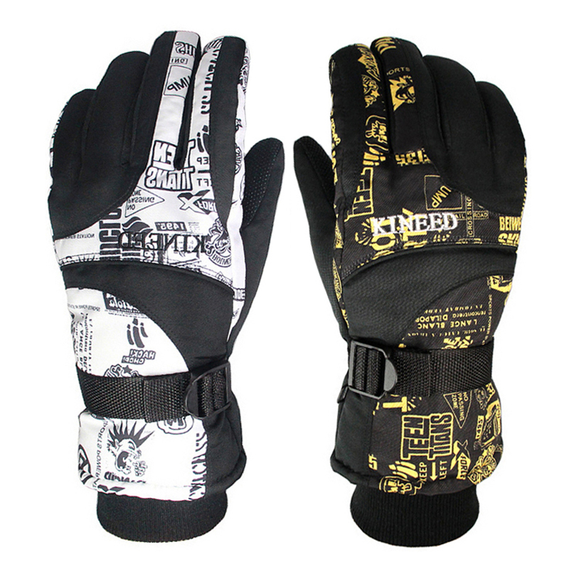 Winter Warm Windproof Ski Gloves Outdoor Sports Comfortable Men or Women Snowboard Gloves or Skiing Gloves new mens leather waterproof screen gloves mittens for male winter windproof ski super driving warm proctive gloves