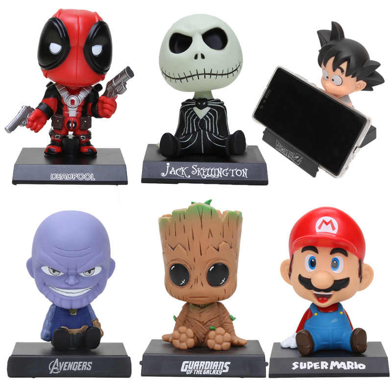 Figurka bobble head toy Dragon Ball Z Son Goku Krillin Super Mario Avengers superbohater nightmare before christmas Jack Toys