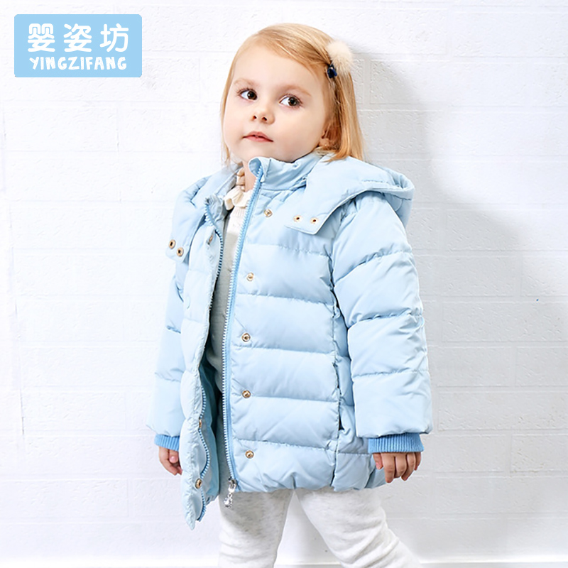 Baby Girls Jackets Outerwear Casual Children Down Jackets Solid Color Thick Hooded Coat Winter Kids Girls Parka Coat winter baby jackets outerwear casual toddler girls coats cute style cotton thick hooded coat children down outerwear