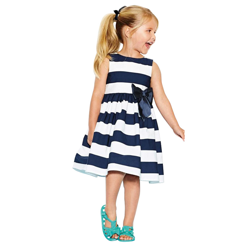 Baby Clothes 2016 Summer Baby Girls Striped Dress Princess