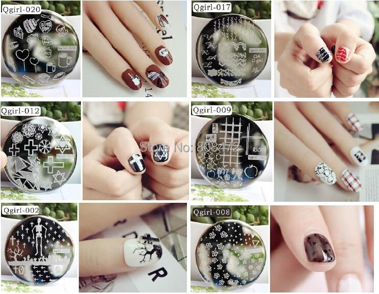 Nail art discs ide dimage de beaut free shipping 2017 new arrival qgirl 01 20 dia 55cm nail art prinsesfo Images