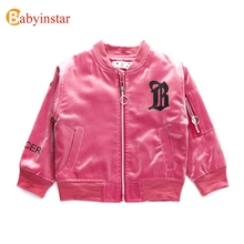 Babyinstar Infant Coats For Girls 2017 New Fashion Trend Children's Clothing Smile Face Pattern Kids Girls Leather Jacket