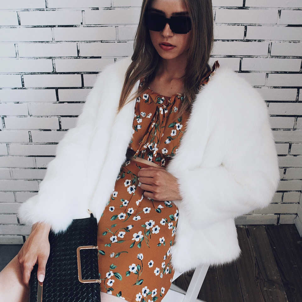 Aikooki/Женская Роскошная куртка из лисьего меха в европейском и американском стиле; модная женская куртка из искусственного меха норки; теплая мягкая одежда с длинными рукавами