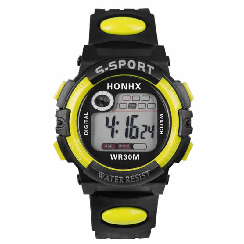 Honhx 2019 Crianças Led Relógio Digital relógio de Pulso de Luxo Da Marca Da Menina do Menino Crianças Esporte Caminhadas Esportes Pulseira Relógio de Presente de Natal