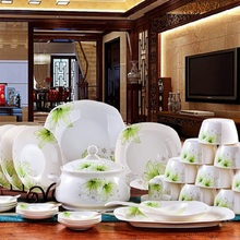 GUCI 56 PIECES tableware skull dishes disc  sets Jingdezhen ceramics authentic wedding gifts