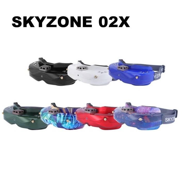 SKYZONE SKY02X 5.8Ghz 48CH Diversità FPV Occhiali Supporto 2D/3D HDMI Testa di Monitoraggio Con Il Ventilatore DVR Fotocamera Frontale per Da Corsa del RC Drone