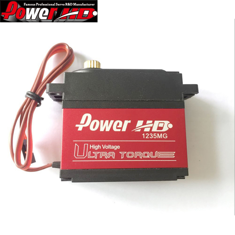 1pcs 100% orginal Power HD Digital Servo HD-1235MG high Voltage 40Kg for 1/5 Car can work for FUTABA JR servo plug using for jr futaba
