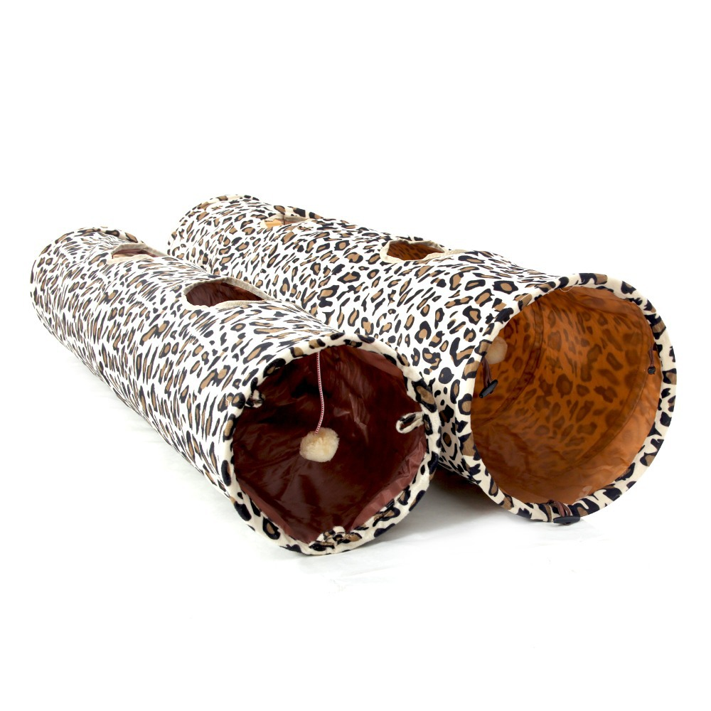 Novi tunel za kućne ljubimce Bulk Cat Toys Cat Tunel Leopard Print - Kućni ljubimci - Foto 3