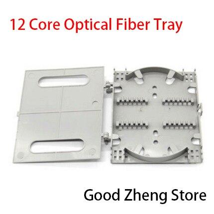12 Cores Fiber Optic Splice Tray Termination Box Pigtail Fiber Splicing Plate