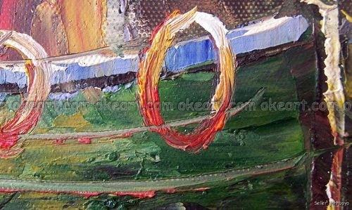Ручная роспись старая Рыбацкая деревенская лодка доки пристани морской пейзаж масло на холсте Живопись Искусство Высокое качество