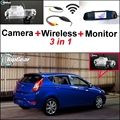 3 in1 Special Camera + Wireless Receiver + Mirror Monitor Parking System For Hyundai Solaris Fluidic Verna Grand Avega Hatchback