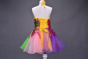 Image 5 - בנות שמלת בלט לילדים ילדה ריקוד ילדים פאייטים בלט תלבושות עבור בנות טוטו ריקוד ילדה שלב Dancewear ביצועים