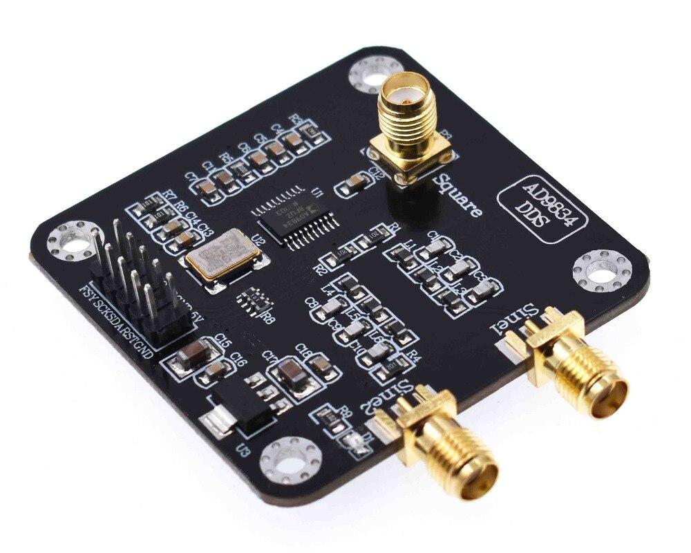Модуль генератора сигналов AD9834 DDS, синусоидальный/треугольный генератор, плата источников сигнала, распродажа, 1 шт.