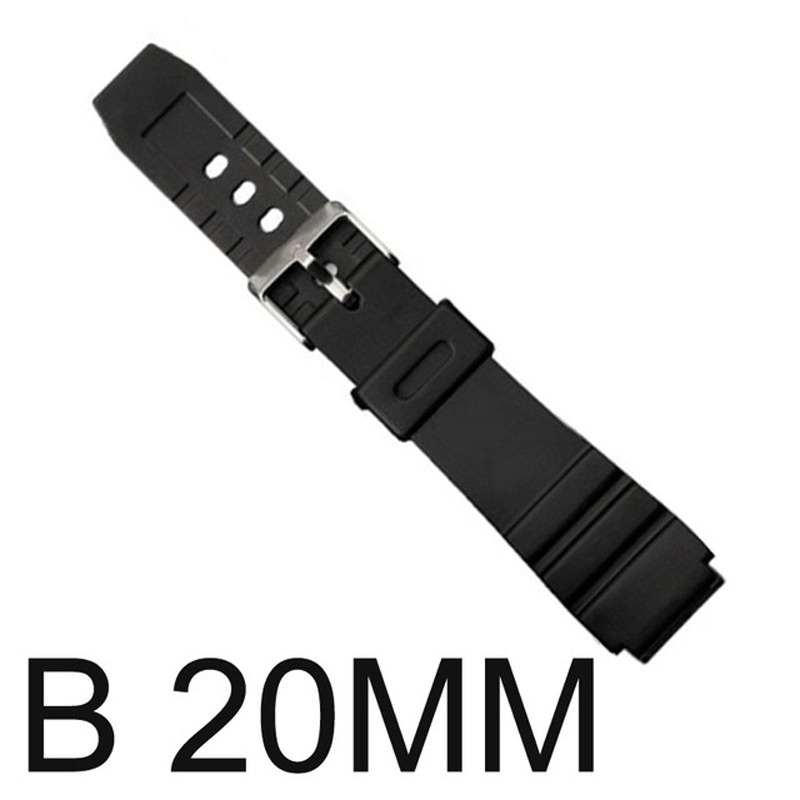 Rubber Watchband Watches Replace Electronic Wristwatch Band Sports Watch Straps GDD99