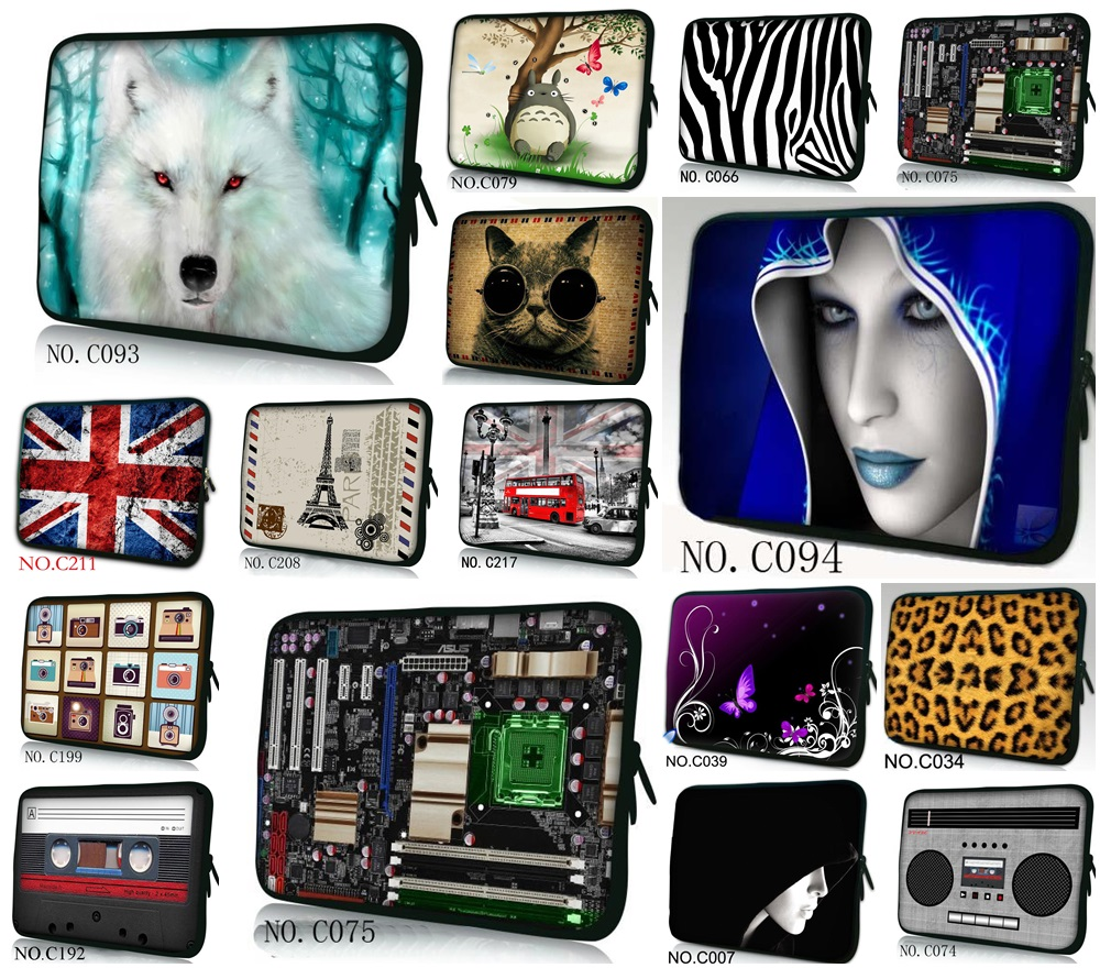 Computer Neoprene Laptop Bag Cases Notebook Sleeve Cover Pouch 7 10 12 13 14 15 17 inch Pro Tablet PC #05