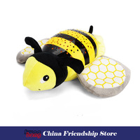 Hot plush cloth toys Bee soothing hypnotic projection animal doll soft toys with starlight projection and music baby toy gift