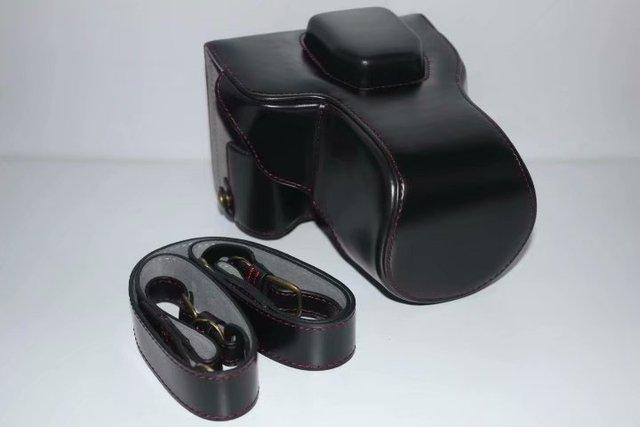 Etui pour sac photo en PU pour Olympus Pen Lite EPL7 E-PL7 EPL8 E-PL8 14-42mm lentille à emporter caméra système sans miroir à fond de batterie