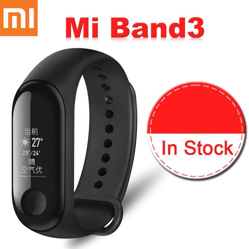 Originale Xiao mi mi fascia 3 Smart bracciale Con Display Oled Touchpad INTELLIGENTE Impermeabile Frequenza Cardiaca Fitness Bluetooth Wristband
