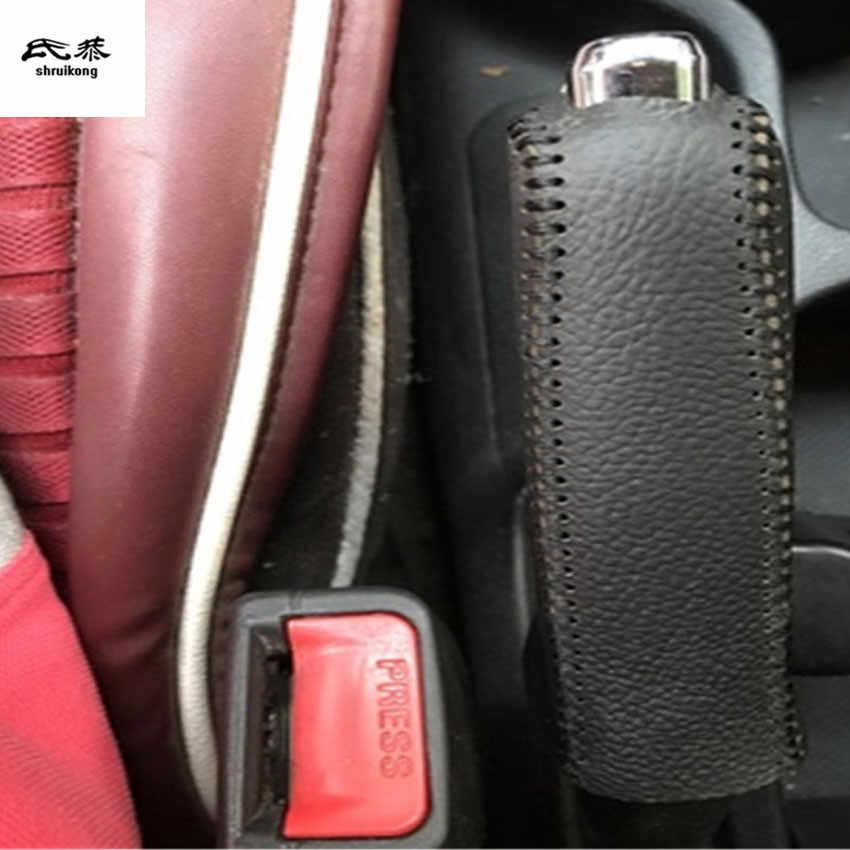 AT/MT 1 pc véritable levier de Vitesses en cuir et parking frein à main couvercle de frein pour 2011-2015 KIA RIO