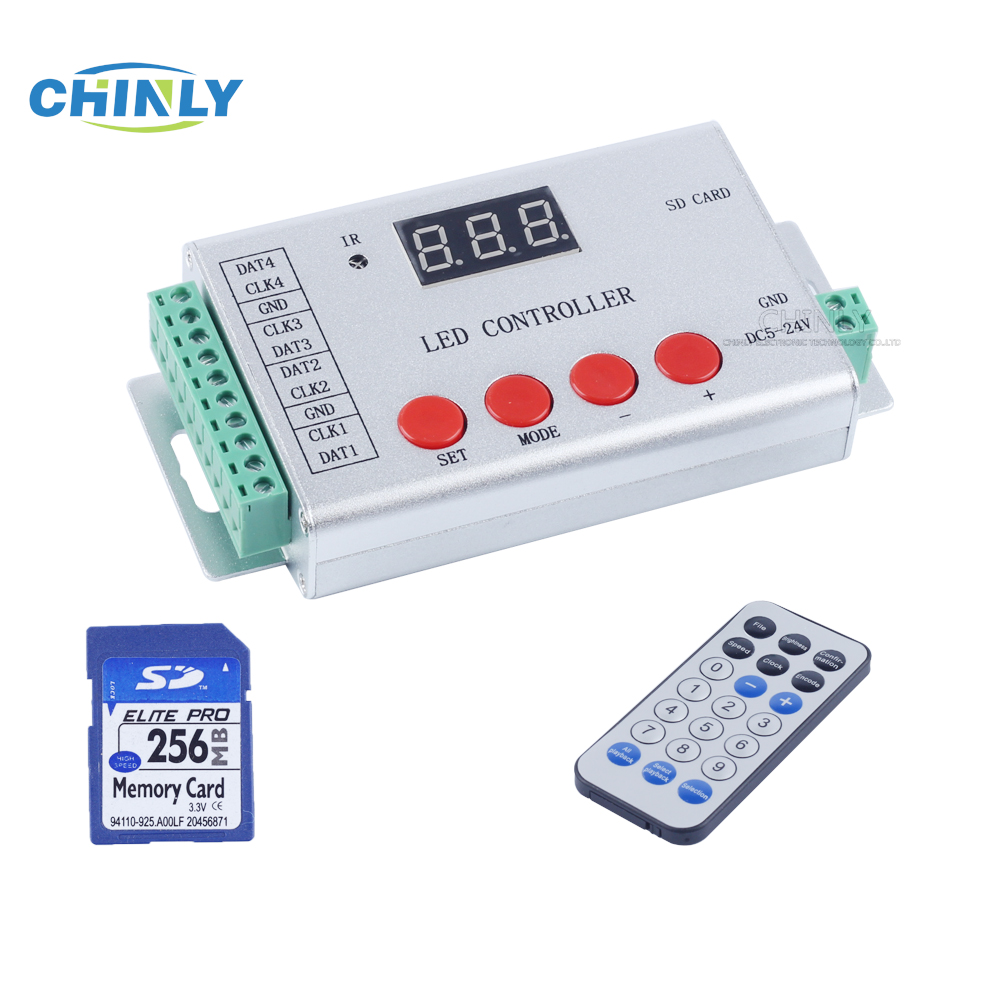 DC5-24V 21key télécommande WS2811 WS2812B WS2813 APA102 LED pixel contrôleur de bande, le contrôle Maximum 6144 pixel