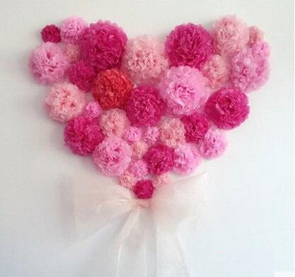 Diy childrens room paper craft 1pcs 6inch 15cm paper flower balls namepaper pom poms mightylinksfo