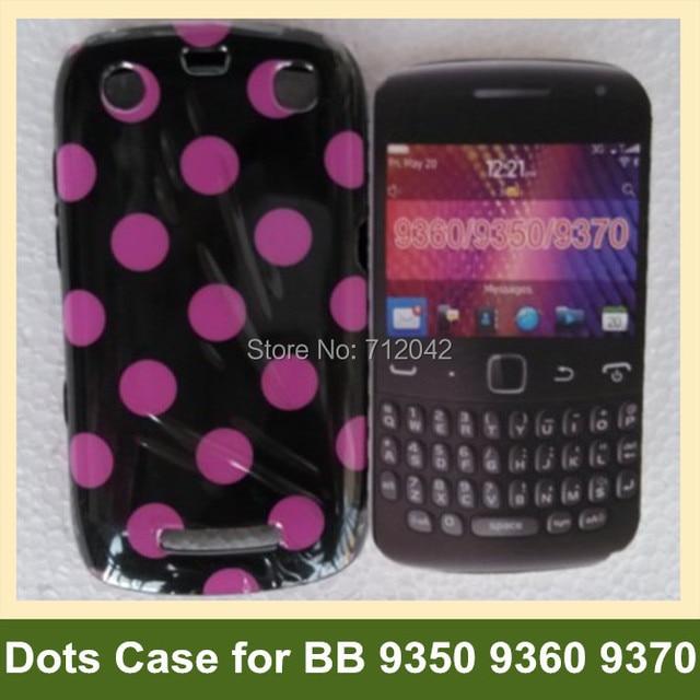 Koele stippen zachte tpu gel cover telefoon case voor blackberry 9350 9360 9370 curve gratis verzending