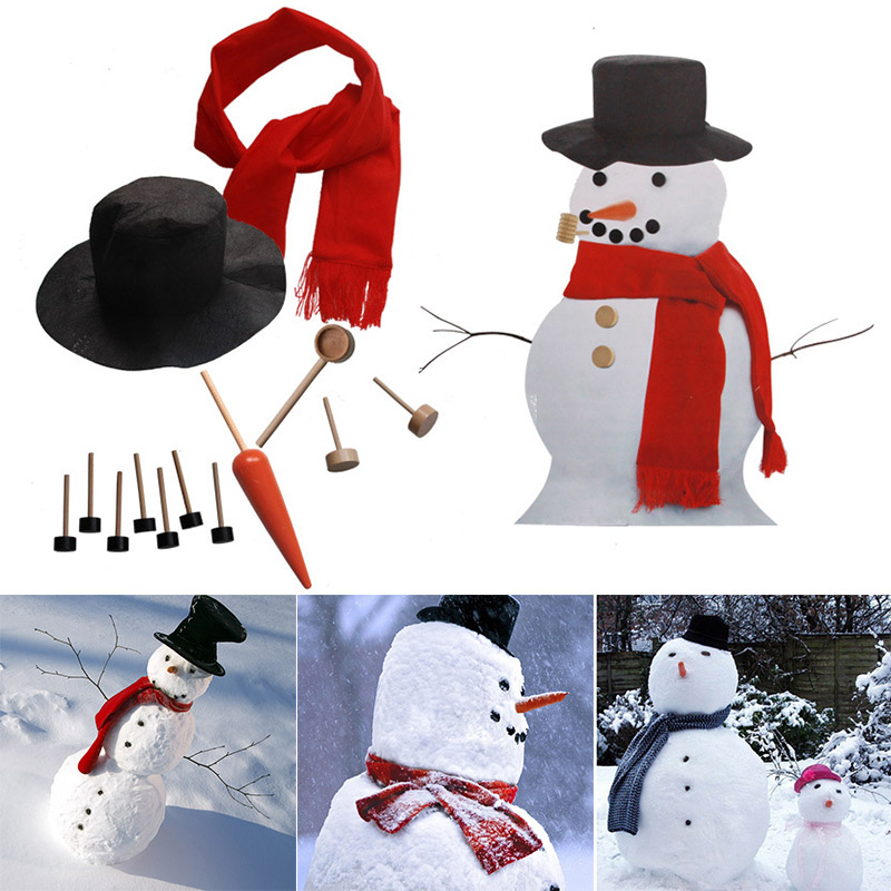 1 Set Snowman Making Kit Decorating Winter Christmas Party Holiday Decoration Gift Outdoor YJS Dropship in Gags Practical Jokes from Toys Hobbies