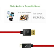 Micro HDMI (Type D) to HDMI (Type A) gold plated (High Speed) Micro HDMI cable 1.4a 2.0 Real 3D and Ethernet capable