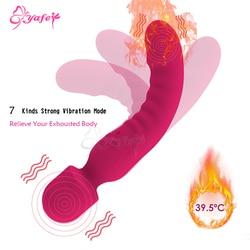 Heating Vibrator Av Wand Massager Vibrator Waterproof Soft Dildo Vibrator G Spot Clitoris Stimulator Adult Sex Toys for Woman