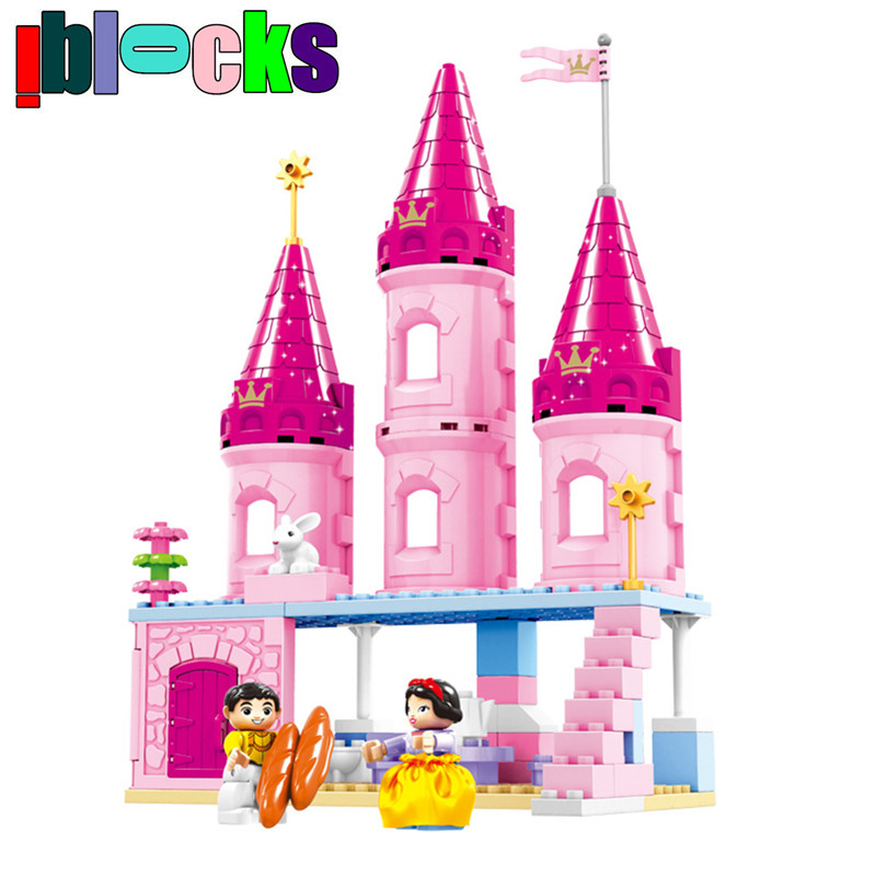 ФОТО IBLOCKS Dream Girls series DUPLO Style Big Size Block Toy Princess and Castle Baby Learning Education Building Toys Suitable 2-6