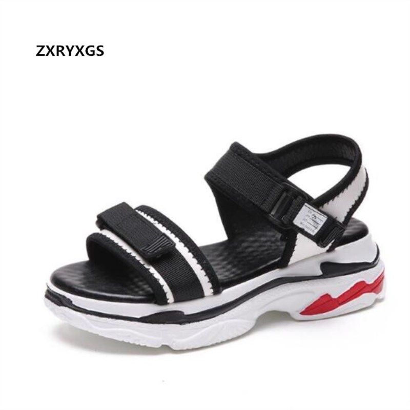ZXRYXGS Summer Sandals Platform-Shoes Fashion Women New Non-Slip Light Casual