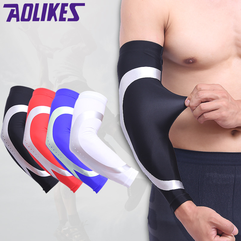1PC Compression Sleeves Arm Warmer Running Sleeves Cycling Sun UV Protection For Outdoor Sport Hiking Ciclismo Arm Sleeves