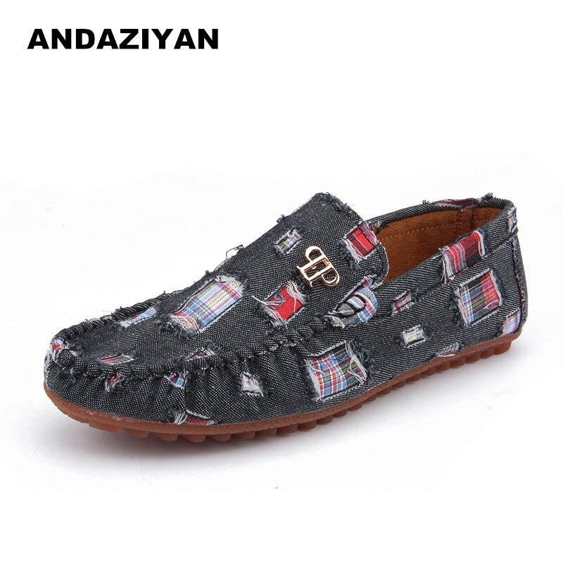 Printemps et automne modèles trou toile chaussures décontracté denim chaussures, chaussures pour hommes