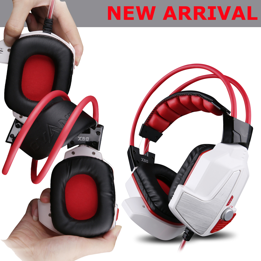 X60 High End 7.1 Sound 3D Stereo Surround Gaming Head Phone Luminous Led Light Gamer Headphone Glowing Game Headset With Mic sades a6 usb 7 1 surround sound stereo gaming headset headband over ear headphone with mic volume control led light for pc gamer
