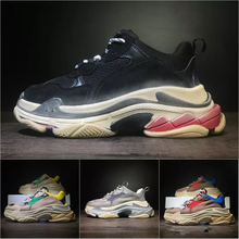 Newest - BL Triple S 17FW Sneakers for men women Running shoes Vintage  Kanye West Old f5e5feeb457