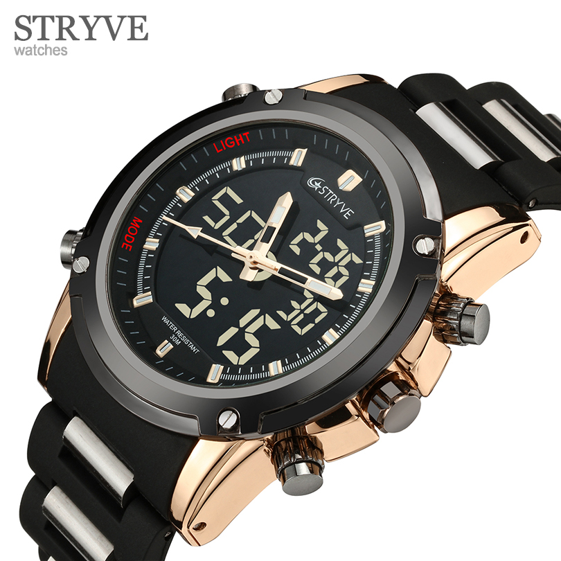 STRYVE Men Top Brand Luxury Famous Electronic LED
