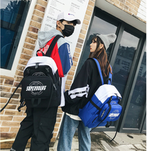 Street Trendy Men Harajuku Backpack Unisex Teenager School Cloth Bag Hip Hop Style Casual Couple Composite Bags Mochila D883