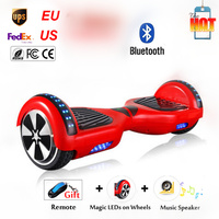 6.5 inch Speedway Bluetooth Zelf Balans Elektrische Staande Hoverboard Scooter Afstandsbediening LED Light op Twee Wiel Smart Sk