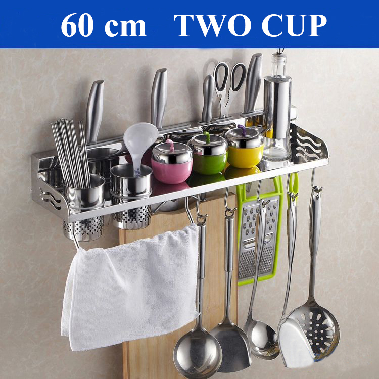 Free shipping 60cm Multi function Storage Rack font b Knife b font Chopping Block Holder including