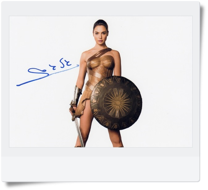 signed Gal Gadot  autographed  original photo  7 inches freeshipping 6 versions 072017 got7 got 7 youngjae kim yugyeom autographed signed photo flight log arrival 6 inches new korean freeshipping 03 2017